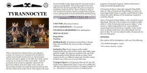 Datasheet Tyannocyte