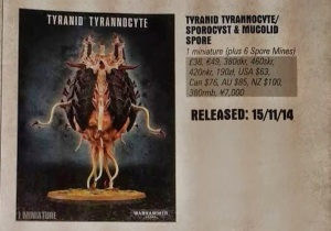 Tyranid Tyrannocyte Sporocyst Mucolid Spore Release Date