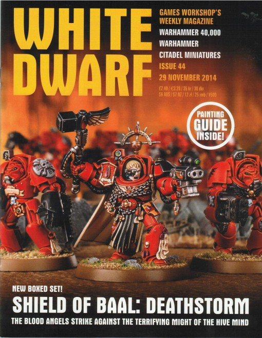 White Dwarf 44 Cover November 2014 Shield of Baal Deathstorm