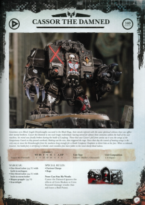 Blood Angels Death Company Dreadnaught Cassor the Damned Datasheet