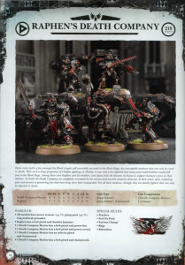 Blood Angels Raphen's Death Company Datasheet