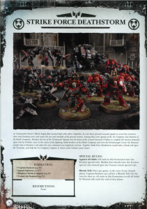 Blood Angels Strike Force Deathstorm Datasheet