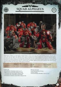 Blood Angels Terminator Squad Alphaeus Datasheet