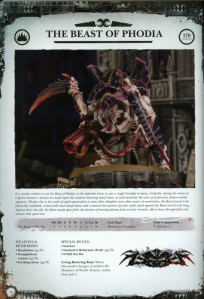 Tyranid The Beast of Phodia Datasheet