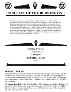 Conclave of the Burning One Formation
