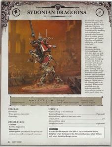 Dataslate Sydonian Dragoons