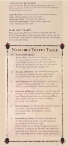 Khorne Daemonkin Warlord Traits Edited